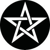 Pentagramsymbolsvektor stock illustrationer