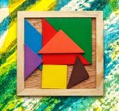 Pentamino for children in magic square Royalty Free Stock Image