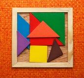 Pentamino for children in magic square Stock Photos