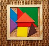 Pentamino puzzle in magic square Stock Images