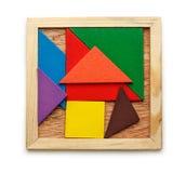 Pentamino voor kinderen in magisch vierkant stock afbeelding