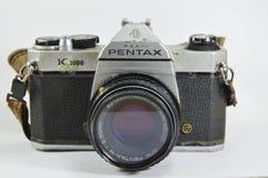 Pentax K模型1000一台经典影片照相机 免版税库存照片