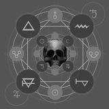 Pentáculo místico Imagen de archivo
