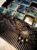 Pente arborizado, fechamento do sillver e mosaico fotografia de stock royalty free