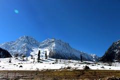 Pente blanche Sonmarg, Cachemire dans l'Inde photographie stock libre de droits