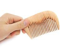 Pente com cabelo Imagem de Stock