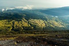 Pente de montagne de Rinjani Photographie stock libre de droits