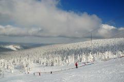 Pente de ski Photographie stock