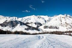 Pente de ski dans Livigno Images stock