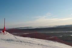 pente de ski de rubrique de description de borne images stock