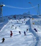 pente de skieurs Images stock