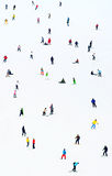 Pente de station de sports d'hiver Fond Photo libre de droits