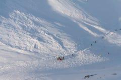 Pente inclinée de ski Images libres de droits