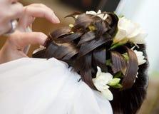 Penteado bonito do casamento Fotos de Stock Royalty Free