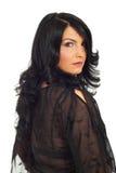 Penteado da mulher com cabelo longo Imagem de Stock
