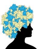 Penteado floral Fotografia de Stock