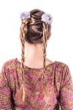 Penteado weddting moderno Imagem de Stock Royalty Free