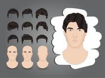 Penteados do ` s dos homens Imagem de Stock