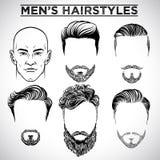 Penteados dos homens ilustração stock