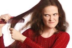 Penteando o cabelo fotos de stock royalty free