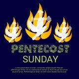 Pentecôte dimanche illustration libre de droits