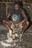 Pentecôte, république du Vanuatu, le 21 juillet 2014, hommes indigènes Photo libre de droits