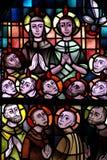 Pentecostés en vitral foto de archivo libre de regalías
