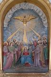 Pentecost, the descent of the Holy Spirit. Chapel in the village Stitar, Croatia Stock Photo
