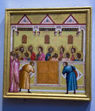 Pentecost   by Giotto and Workshop at the National Gallery of London. Royalty Free Stock Photography