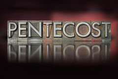 Pentecost Letterpress Royalty Free Stock Photos