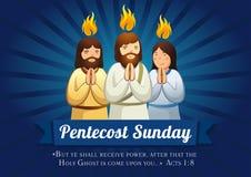 Pentecost Niedziela sztandar Zdjęcia Stock