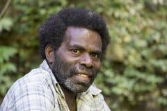 Pentecost, republika Vanuatu, Lipiec 21st, 2014, Miejscowi mężczyzna Zdjęcie Royalty Free