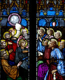 The Pentecost in stained glass Royalty Free Stock Photography