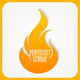 Pentecost Sunday Abstract vector illustration