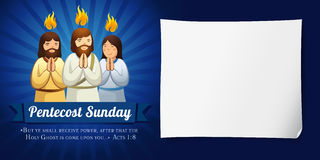 Pentecost sunday banner navy blue stock illustration