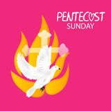 Pentecost Sunday. Vector illustration of a Banner for Pentecost Sunday Royalty Free Stock Photo