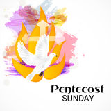 Pentecost Sunday. stock illustration