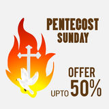 Pentecost Sunday. stock illustration