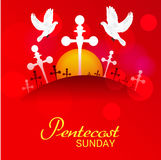 Pentecost Sunday. royalty free illustration