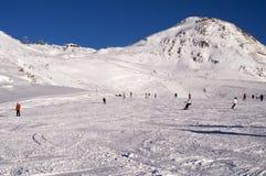 Pentes dans Deux Alpes. La France Photo libre de droits