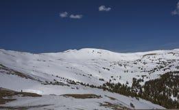 Pentes de montagne du Colorado de passage de Loveland Photographie stock