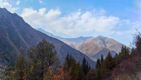 Pentes de montagne ensoleillées photos stock