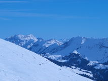 Pentes de neige Photos libres de droits