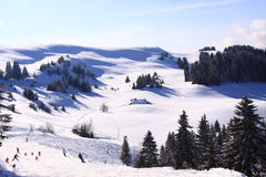 Pentes de ski Image libre de droits