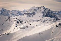 Pentes de ski de l'Autriche Images stock