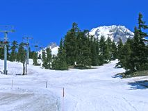 Pentes de ski sur le capot de Mt., Orégon Photos libres de droits
