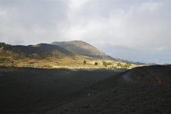 Pentes et jante de caldeira du mont Etna, Sicile Images stock