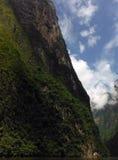 Pentes raides des montagnes de Sumidero dans Chiapas Photos stock