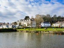 Pentewan康沃尔郡英国英国 图库摄影