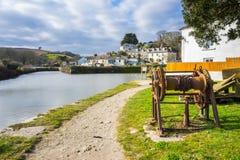 Pentewan Cornwall England Großbritannien Lizenzfreie Stockfotos